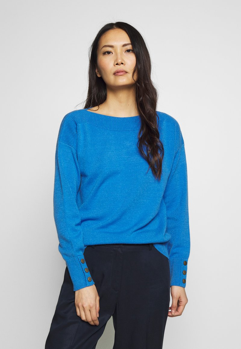 TOM TAILOR - SWEATER BOATNECK - Sweter - parisienne blue melange