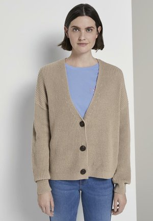Cardigan - dusty taupe