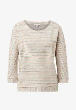 MIT STRUKTURMUSTER - Sweater - beige