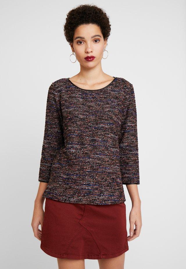 Stickad tröja - black/mutlicolor