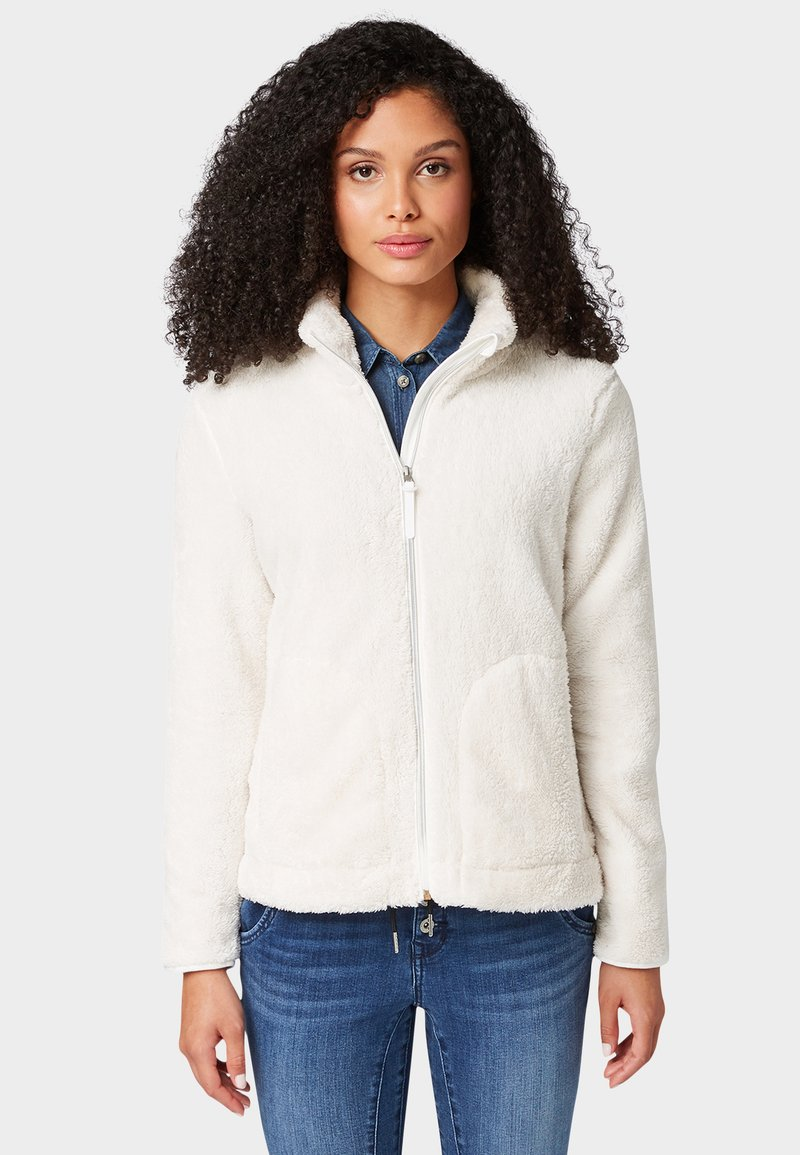 TOM TAILOR - MIT TEDDY-FELL - Übergangsjacke - whisper white