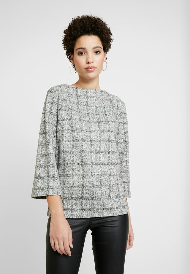 COSY CHECK - Sweter - black/white/grey