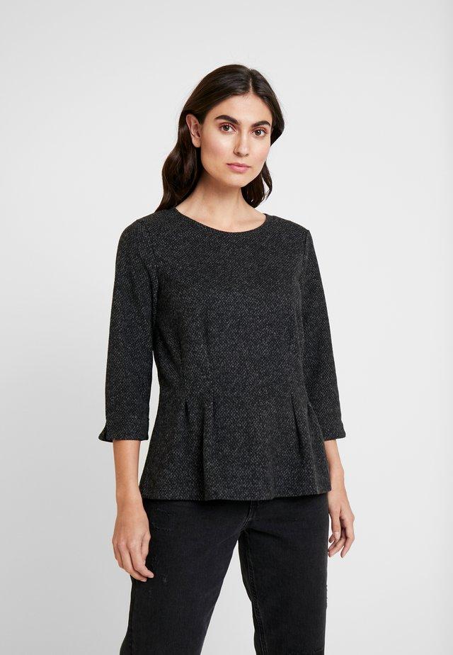 COSY JACQUARD - Sweter - grey/black