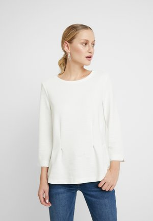 STRUCTURE CREW-NECK - Langærmede T-shirts - whisper white