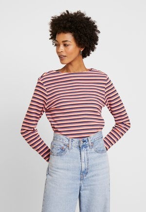 STRIPE STRUCTURE - T-shirt à manches longues - blue/multicolor