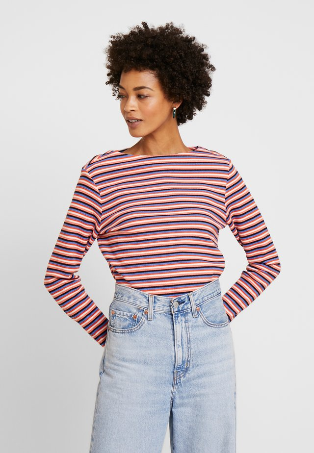 STRIPE STRUCTURE - Long sleeved top - blue/multicolor
