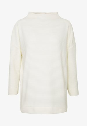 STRUCTURED MOCK NECK - Stickad tröja - wool white