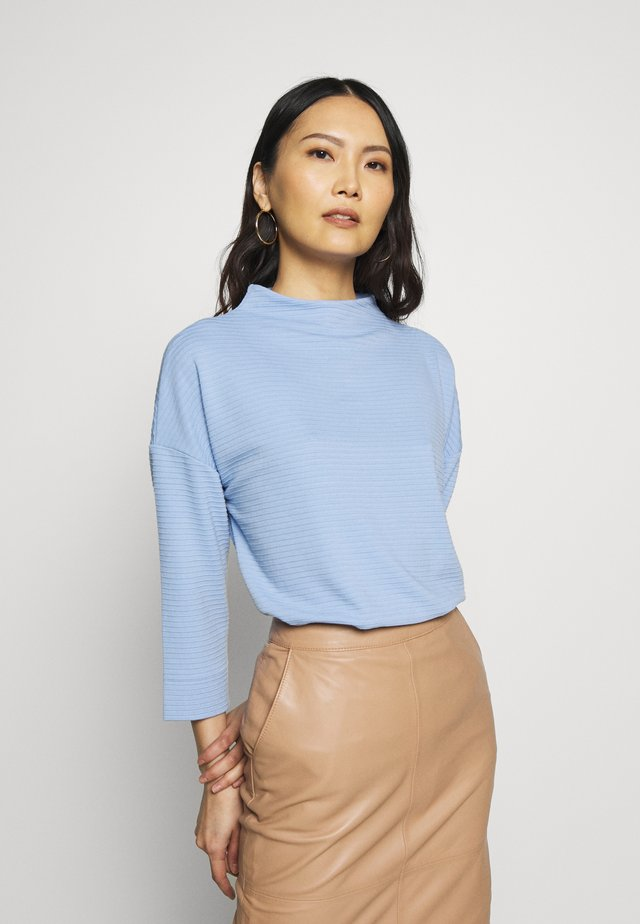 STRUCTURED MOCK NECK - Sweter - parisienne blue