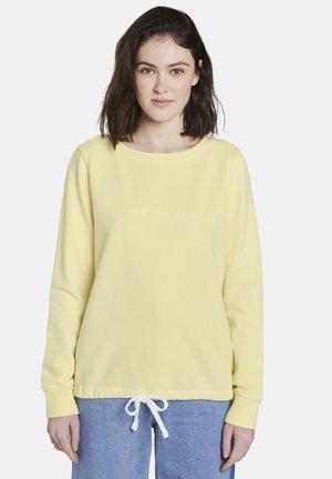 MIT SCHRIFT-PRINT - Sweatshirt - yellow