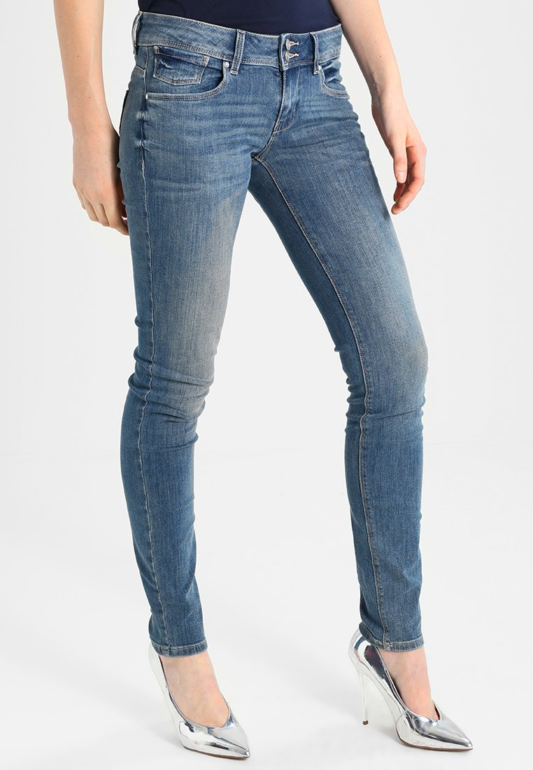 TOM TAILOR - CARRIE DOUBLE BUTTON  - Slim fit jeans - light stone wash denim