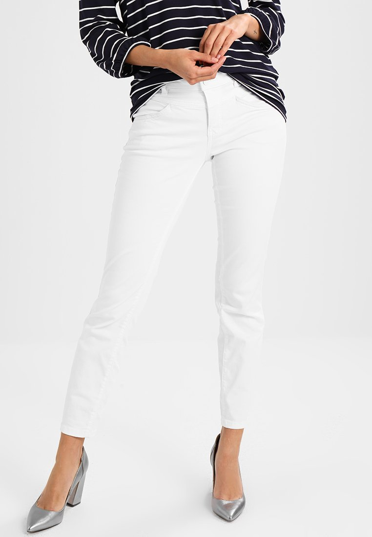 TOM TAILOR - COLORED ALEXA ANKLE  - Jeansy Slim Fit - white
