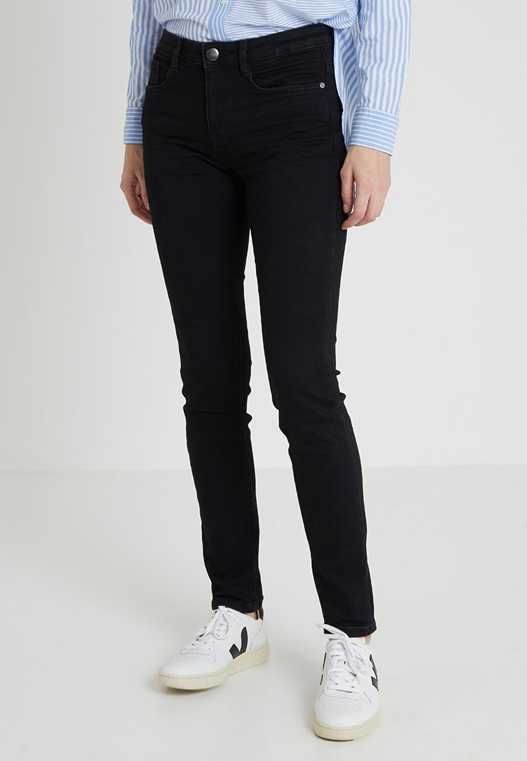 TOM TAILOR - ALEXA  - Slim fit jeans - black denim