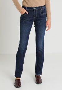 TOM TAILOR - ALEXA - Jeans a sigaretta - dark stone denim blue - 0