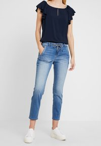 TOM TAILOR - Jeans relaxed fit - used mid stone blue denim - 0