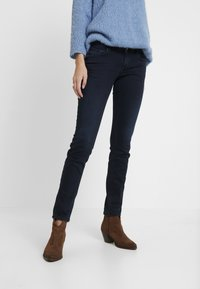 TOM TAILOR - CARRIE - Slim fit jeans - dark stone blue/black denim - 0