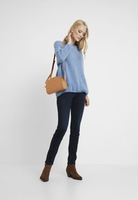 TOM TAILOR - CARRIE - Slim fit jeans - dark stone blue/black denim - 1