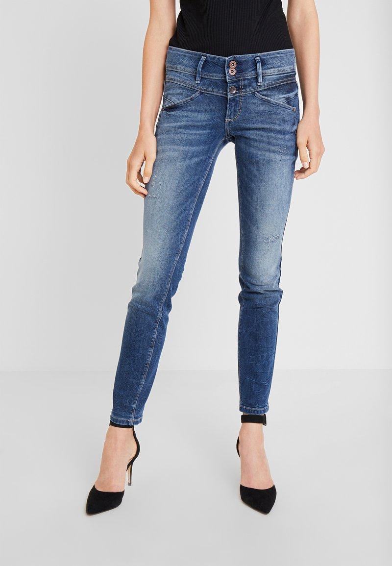 TOM TAILOR - ALEXA - Slim fit jeans - random bleached  blue denim
