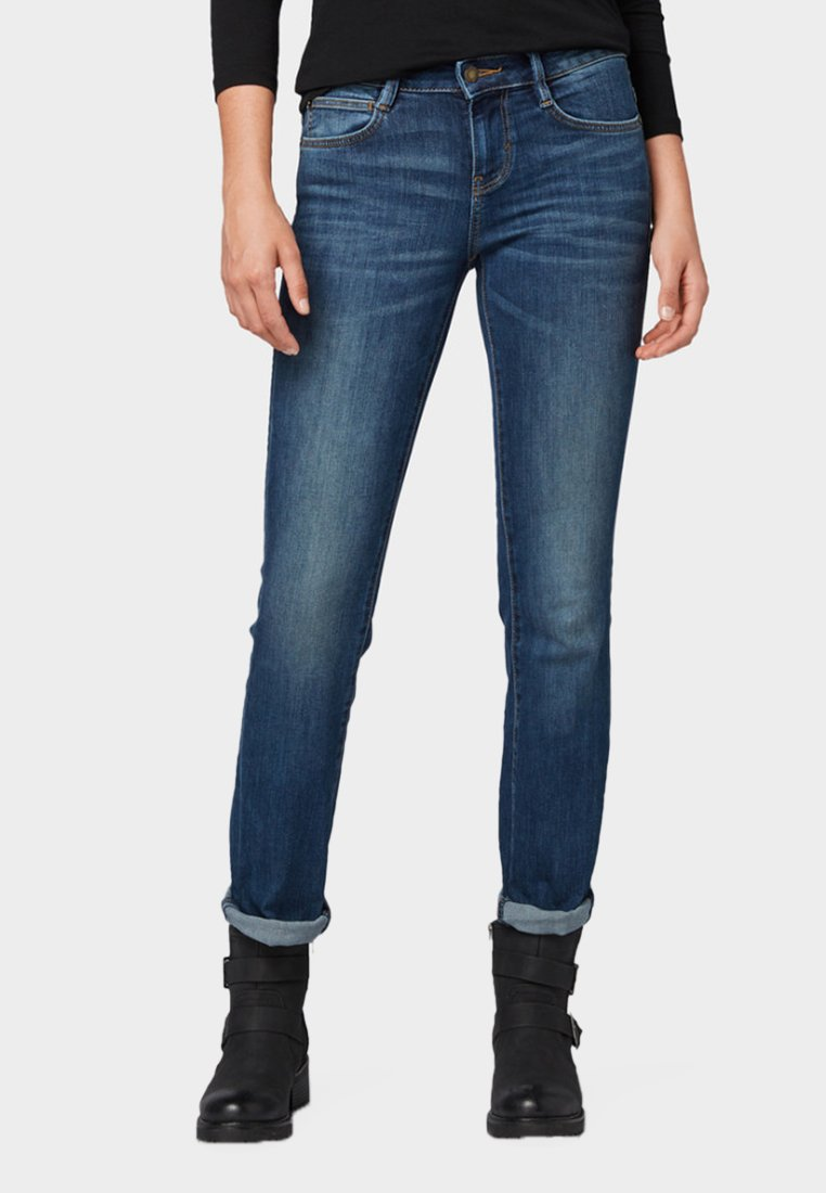 TOM TAILOR - ALEXA  - Jeans Straight Leg - dark-blue denim