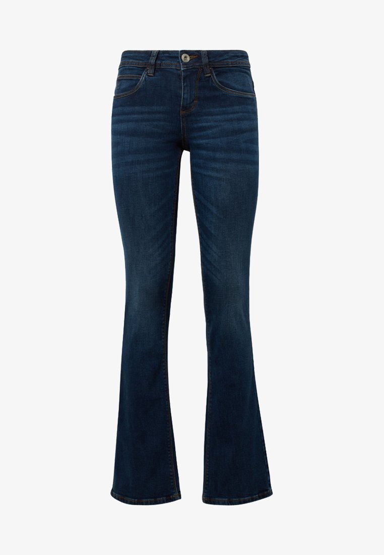 TOM TAILOR - JEANSHOSEN ALEXA - Bootcut jeans - dark stone blue denim