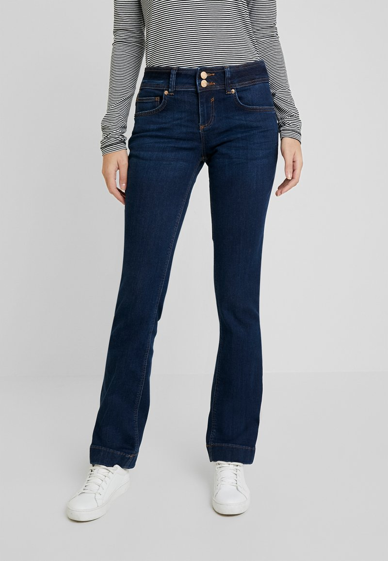 TOM TAILOR - ALEXA - Jeans Bootcut - mid stone bright blue denim