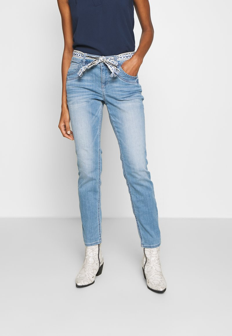 TOM TAILOR - TAPERED - Džíny Relaxed Fit - light stone wash denim blue