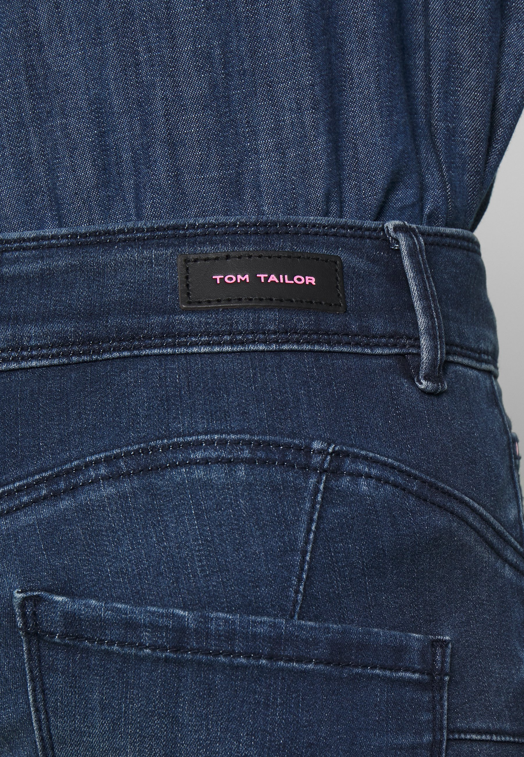 TOM TAILOR ALEXA - Jeansy Skinny Fit - dark stone wash denim