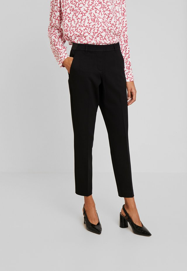 MIA SLIM - Spodnie materiałowe - deep black