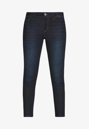 WASH - Jeansy Skinny Fit - rinsed blue denim