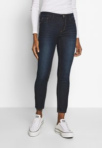 mine to five TOM TAILOR - WASH - Jeansy Skinny Fit - rinsed blue denim - 0
