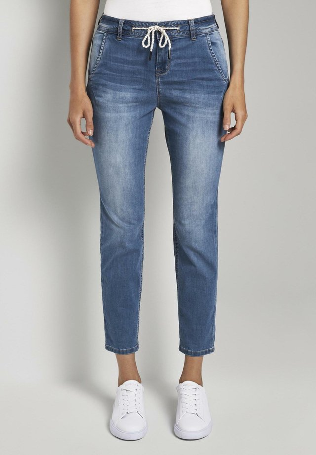 Jeansy Straight Leg - used mid stone blue denim
