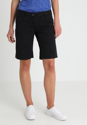 CASUAL WASHED BERMUDA PANTS - Szorty - black