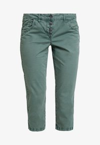 TOM TAILOR - TAPERED RELAXED - Shorts - pale bark green - 3