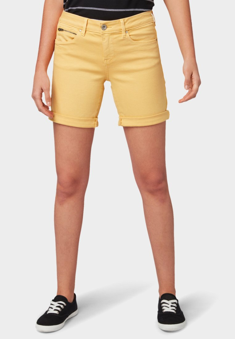 TOM TAILOR - Jeans Shorts - yellow