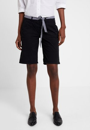 CHINO BERMUDA - Short - deep black/grey