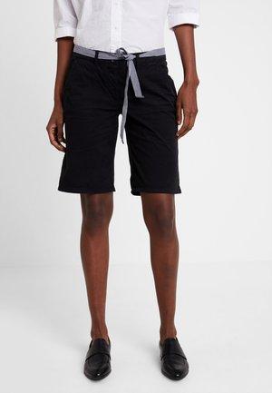 CHINO BERMUDA - Shorts - deep black/grey