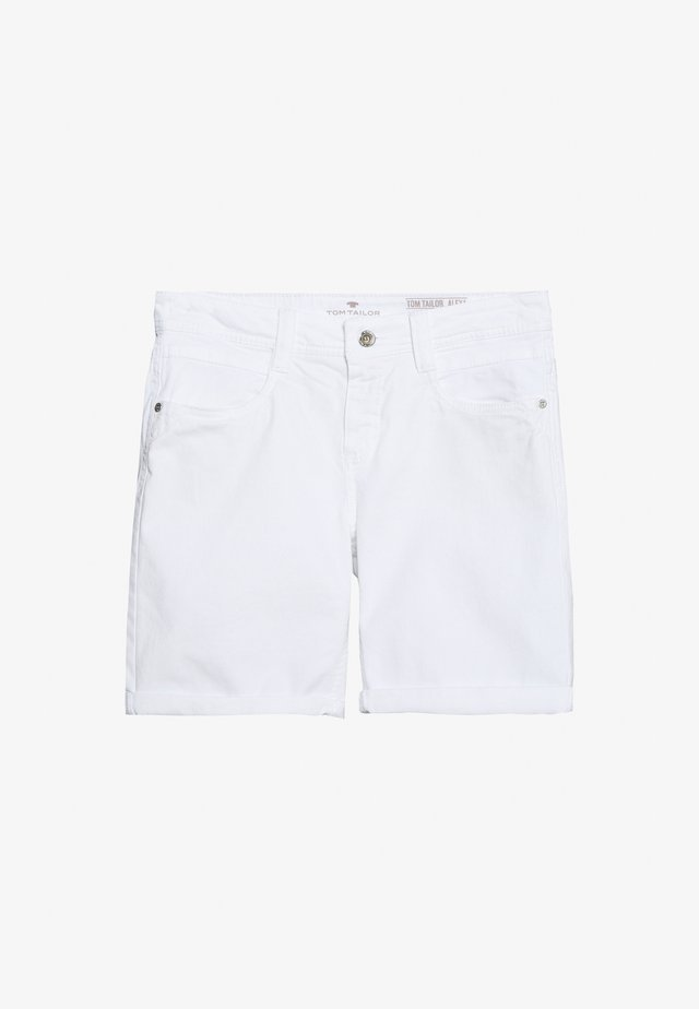 ALEXA BERMUDA - Denim shorts - white