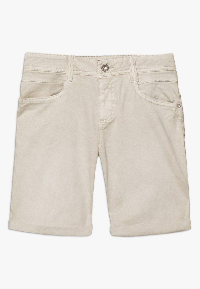 ALEXA BERMUDA - Szorty jeansowe - dusty taupe brown