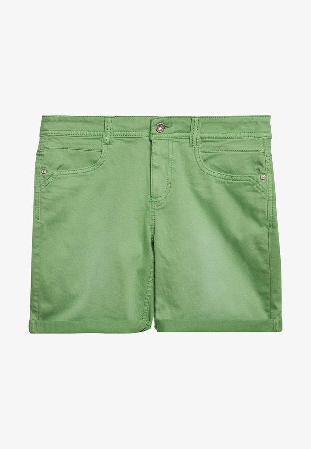 ALEXA BERMUDA - Szorty jeansowe - green