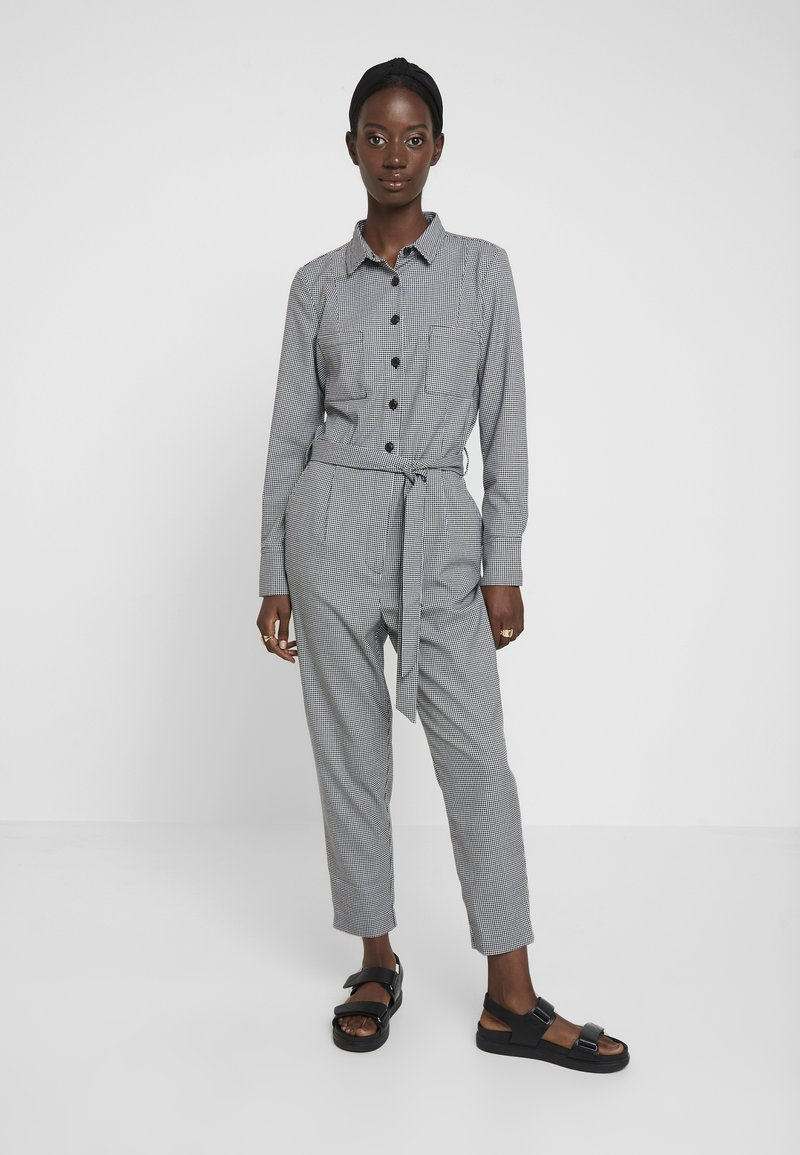 TOM TAILOR - OVERALL CASUAL CHECK - Jumpsuit - grey