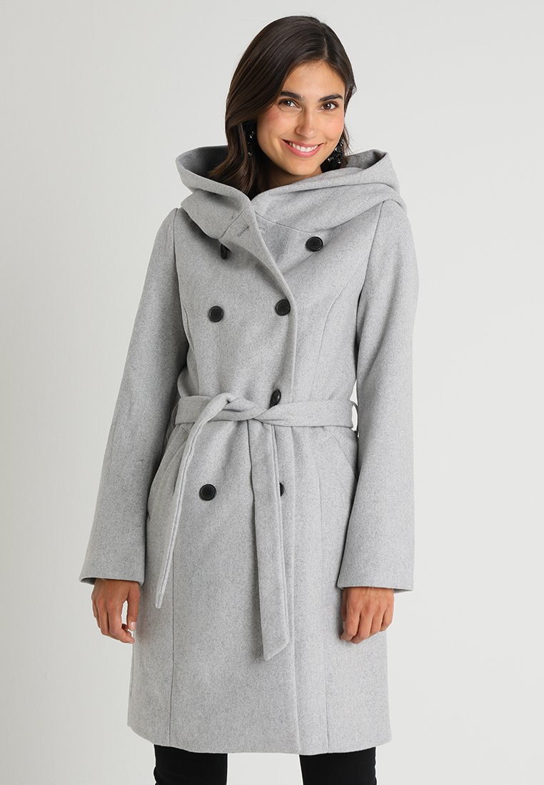 TOM TAILOR - HOODED COAT  - Zimní kabát - grey