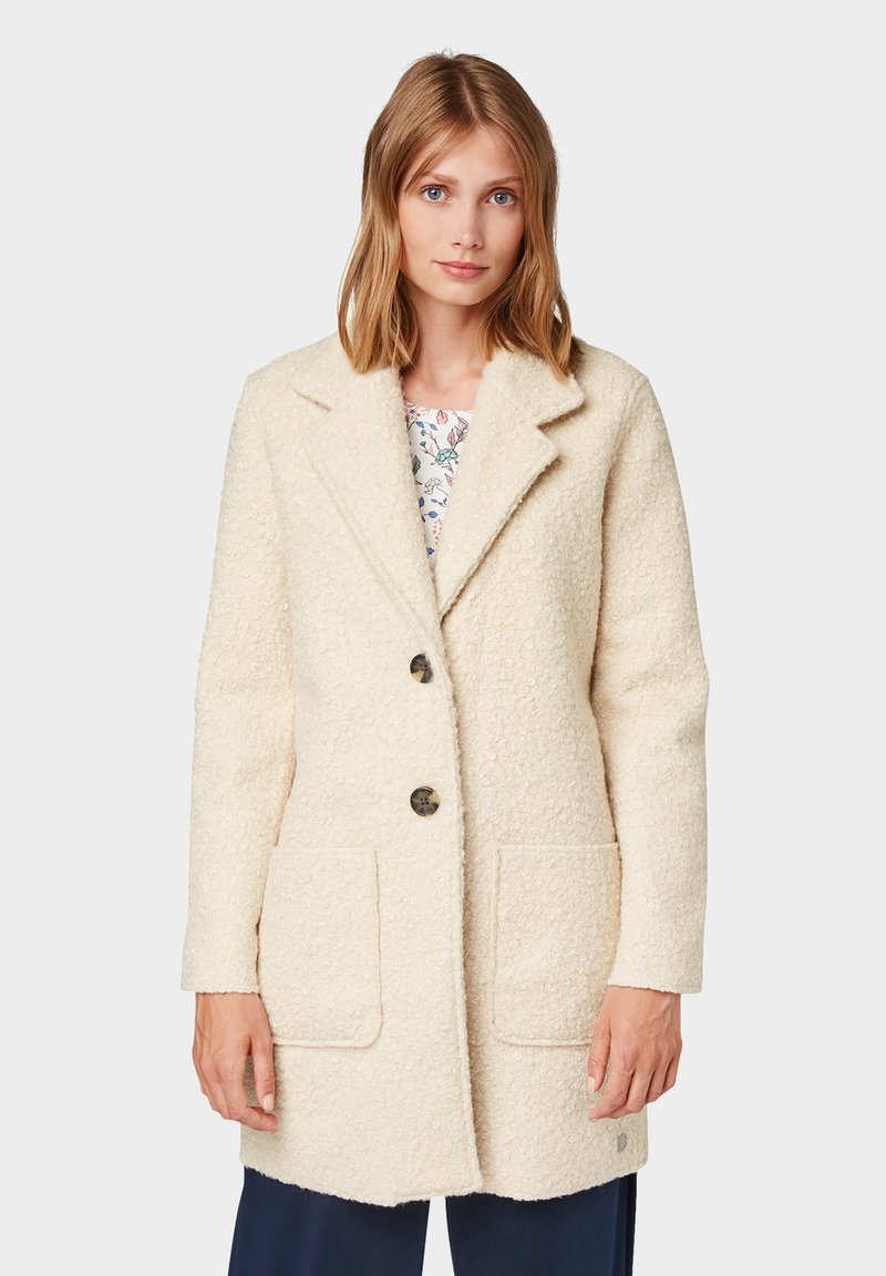 TOM TAILOR - DOUBLEFACE COAT - Short coat - pale beige melange
