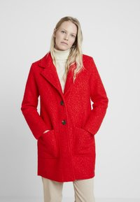 TOM TAILOR - DOUBLEFACE COAT - Cappotto corto - brilliant red - 0