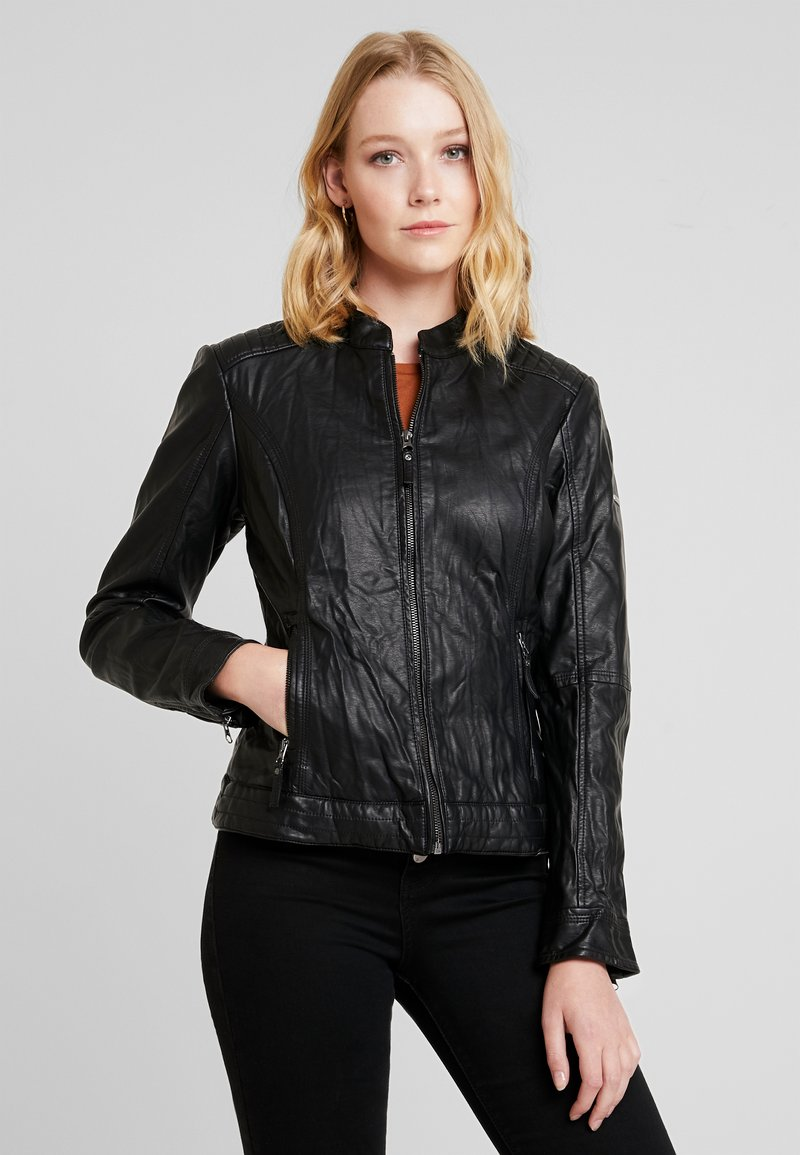 TOM TAILOR - Kunstlederjacke - deep black