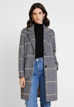 CHECK COAT - Classic coat - black/navy
