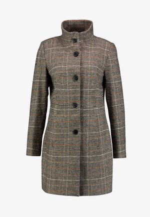 FEMININE CHECK COAT - Mantel - beige sartorial/brown