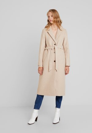 TRENDY LONG COAT - Zimní kabát - light camel melange/brown
