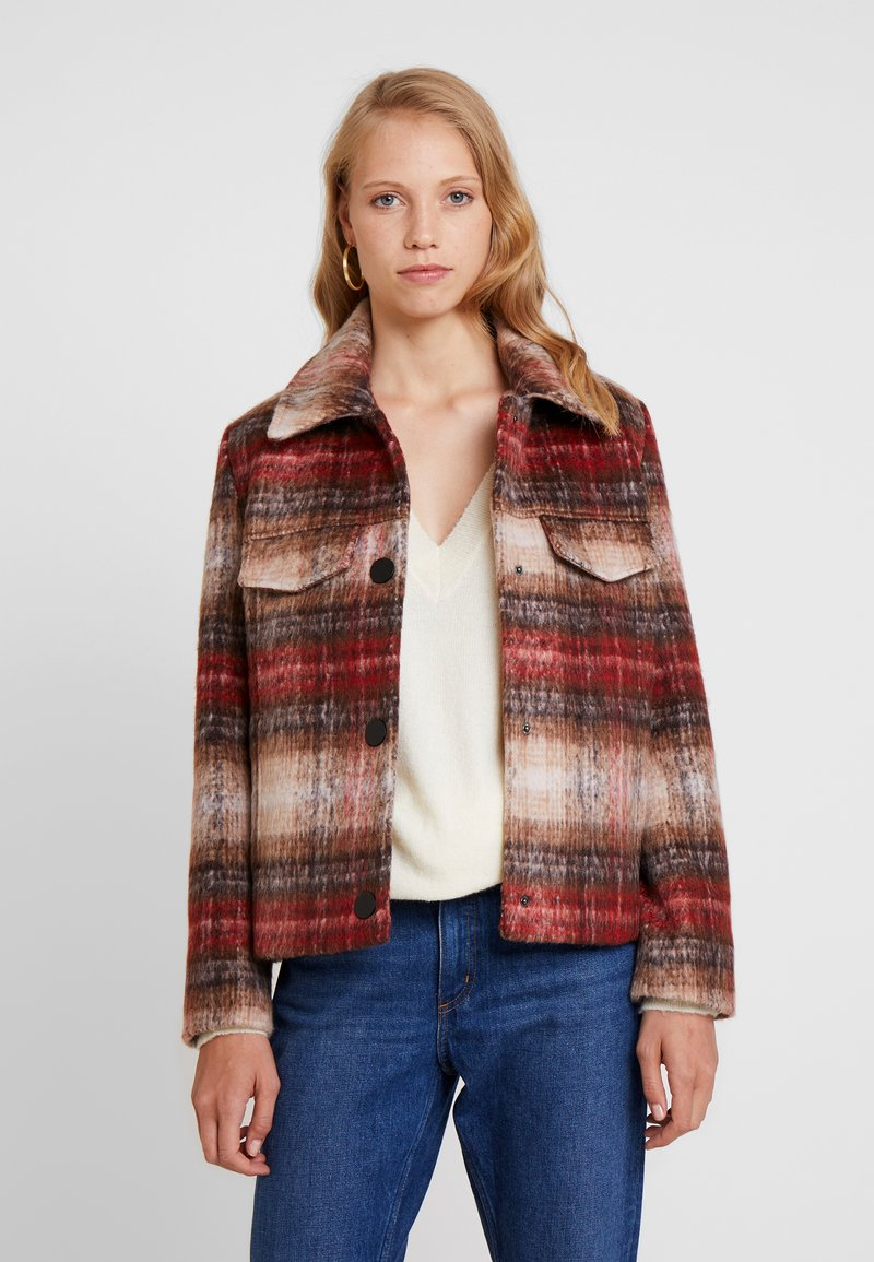 TOM TAILOR - CHECK JACKET - Tunn jacka - red
