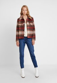 TOM TAILOR - CHECK JACKET - Tunn jacka - red - 1