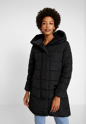 COLD WINTER PUFFER - Vinterkåpe / -frakk - deep black