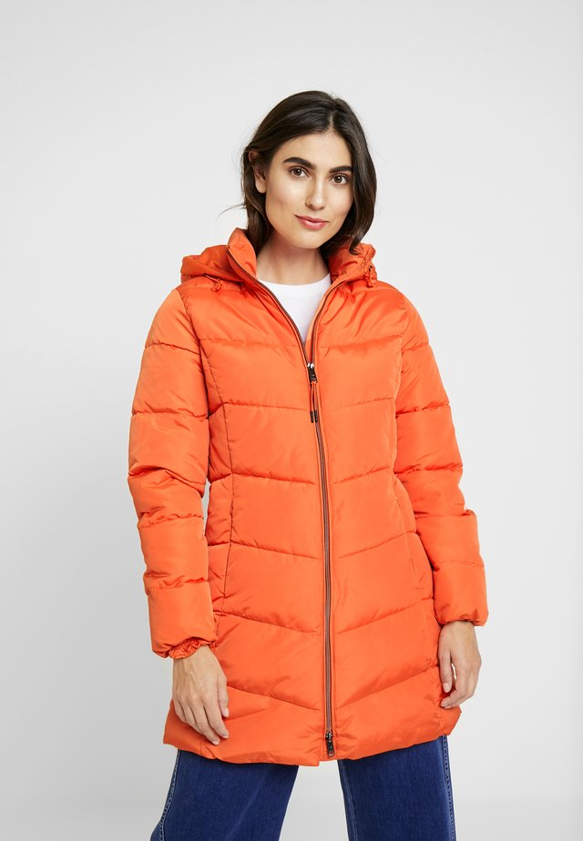 CASUAL PUFFER COAT - Winter coat - knockout orange